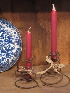 Adams Trinity: Bed Spring Candle Holders