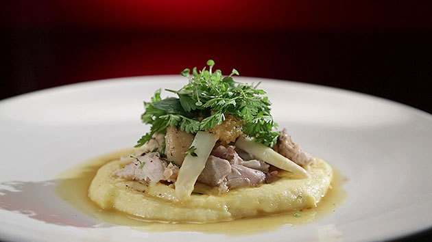 MKR4 Recipe - Rabbit Confit with Crumbed Kidneys, Soft Polenta and Chervil and Parsley Salad (Jake & Elle)