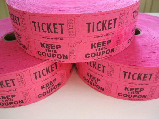 Breast cancer fundraiser ideas -Pink raffle tickets (these are great for door prizes) at a breast cancer fundraising event