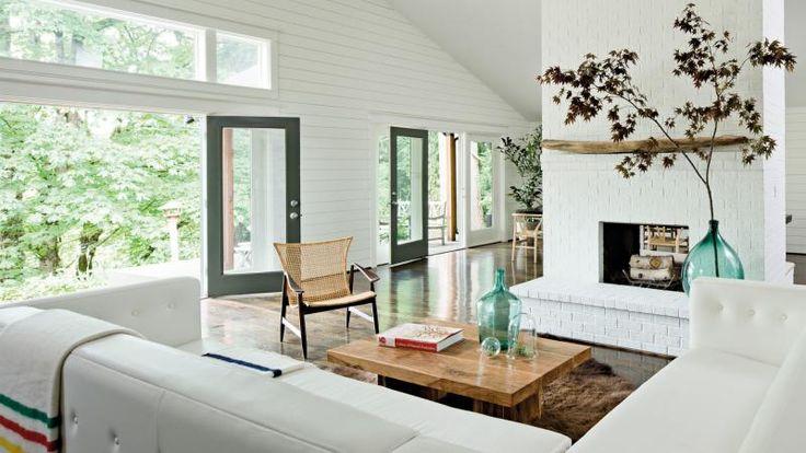 Bush-prairie-house-living-room-cowhide-fireplace-indoor-plant