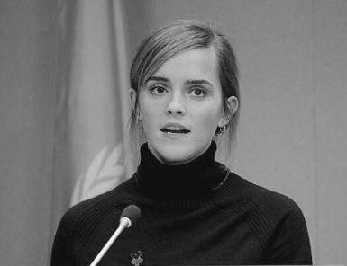 The lovely Emma Watson is wearing our Basic Silver Hoops
