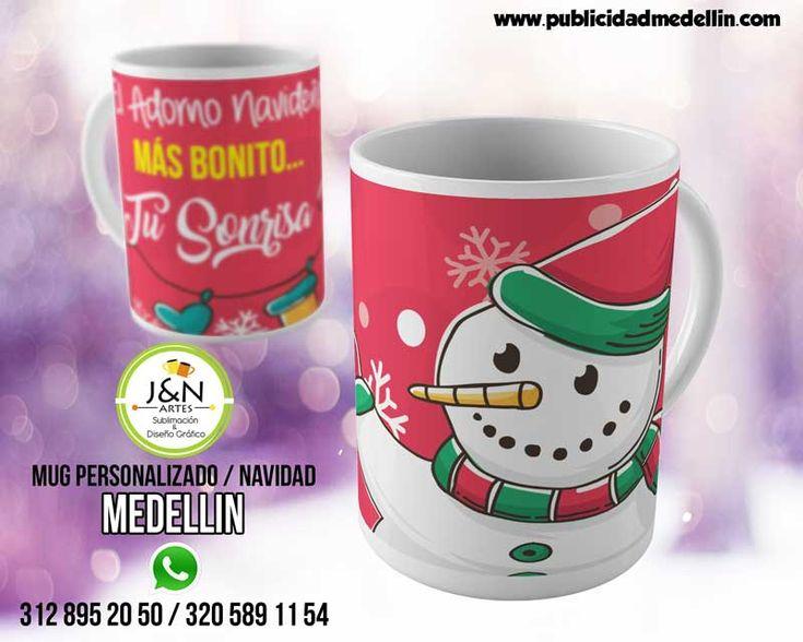Mug Navidad Medellin Personalizado