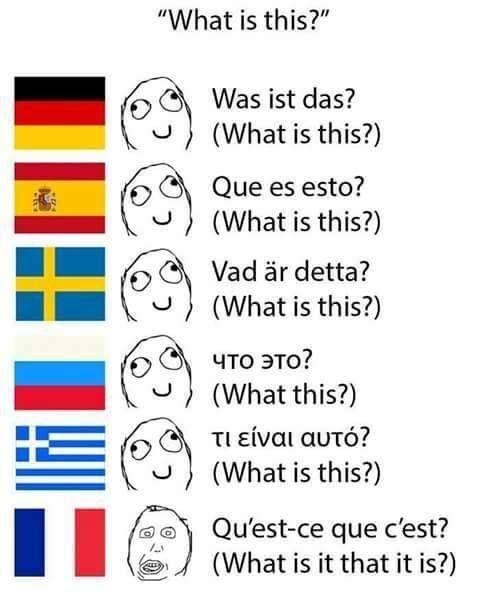 Meme Language Greek English French German Spanish Swedish Translation Language Jokes Memes Quotes Language