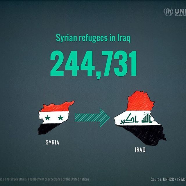 12th March 2015 / Syrian refugees in Iraq 244,731 / As the conflict enters a fifth year, over 3.9 million Syrians are refugees. . . This is a series of infographics for 5th Syria refugee crisis. . 5/6. . . #refugees #refugeecrisis #syrianrefugees #refugeegraphics #infographic #unhcr #syriacrisis