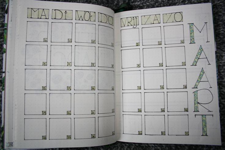 Bullet journal #2 - maart