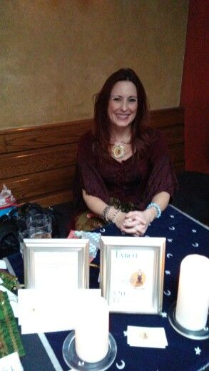 Reading Tarot at the Barleys Angels holiday market. Fun day, great ladies, awesome craft beer!