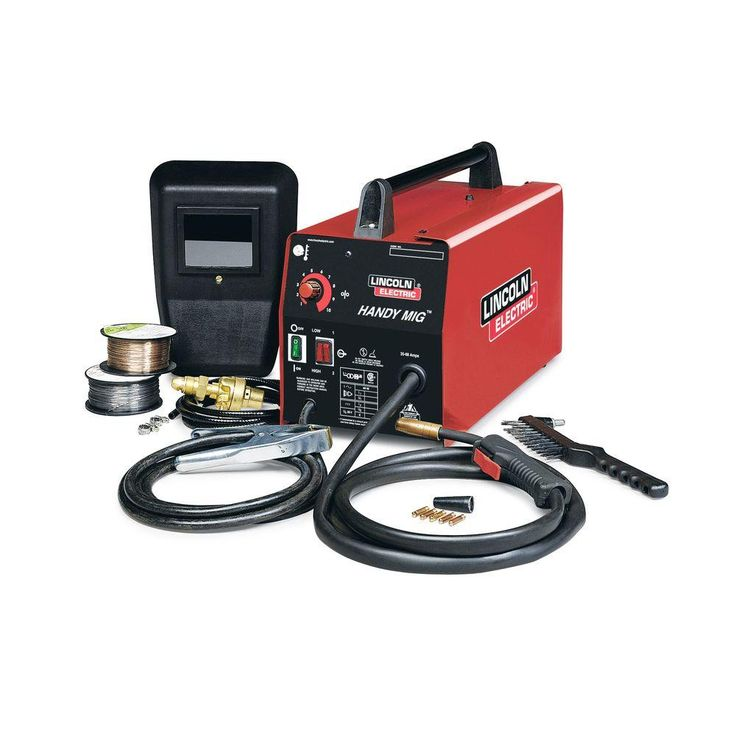 Lincoln Electric 88 Amp Handy MIG Wire Feed Welder with Gun,Samples spools of MIG Wire & Flux Wire,Hand shield,Gas Regulator & Hose,115V