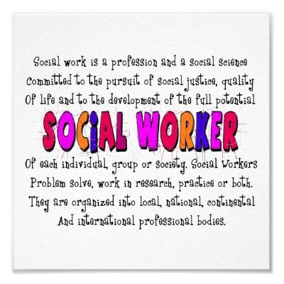 What is a social worker? Don't forget your dreams Jess!