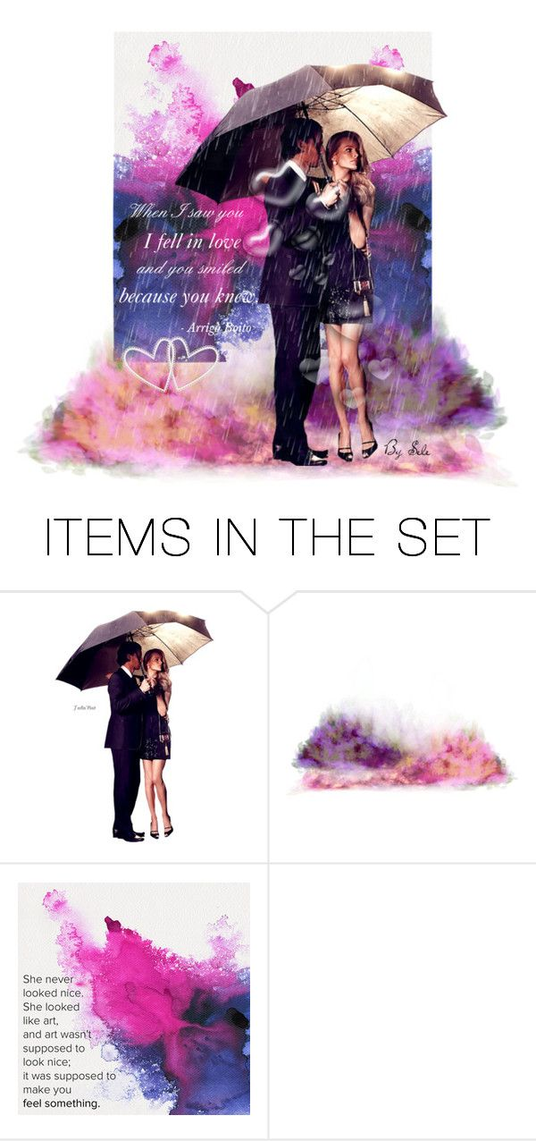 """"""""""" Let's talk about LOVE """" - You & Me in the Rain"""" by selene-cinzia ❤ liked on Polyvore featuring art"""