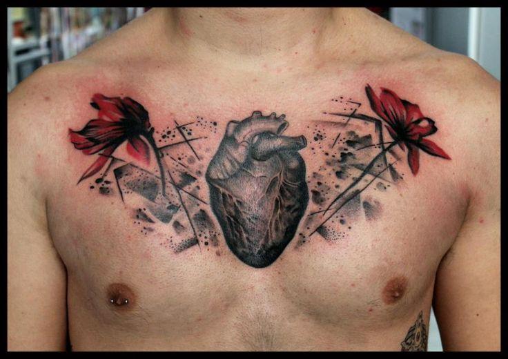 Cool chest piece done at Lonis Tattoo Studio. #tattoo #tattoos #ink