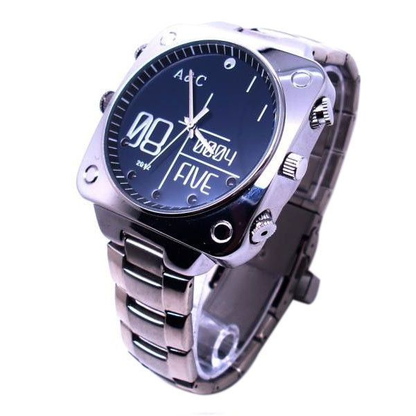 HD 1080P Spy Gear Spy Watch Camera With IR Night Vision, This Spy Watch Also Support Motion Detection And Sound-Activated Functions.