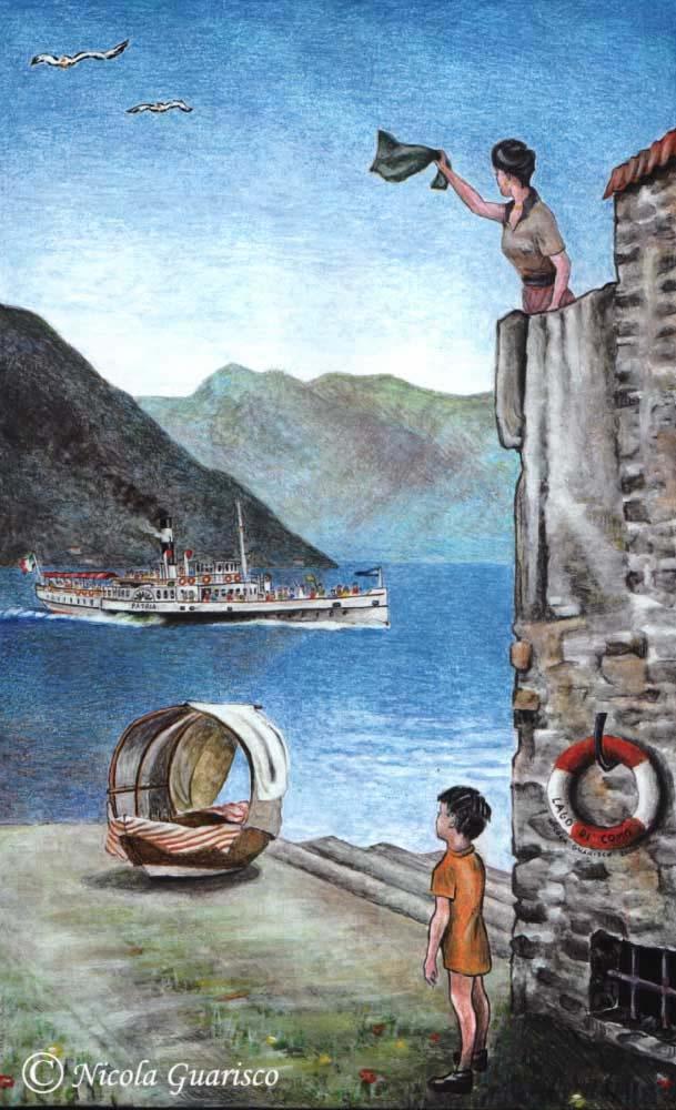 Ncola Guarisco, Lago di Como