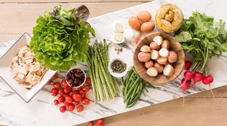 NICOISE SALAD - A summer favorite in France, this salad is really a complete meal. It showcases all the typical French flavors particularly popular in the south of France.