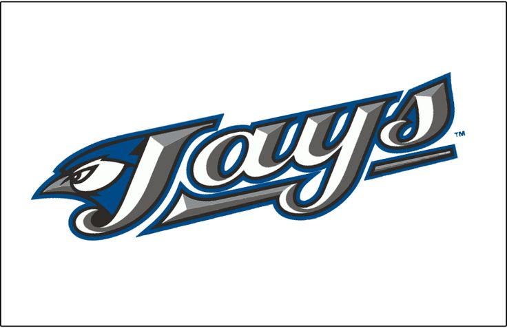 Toronto Blue Jays Jersey Logo (2004) - (Home) Primary logo slanted up on white