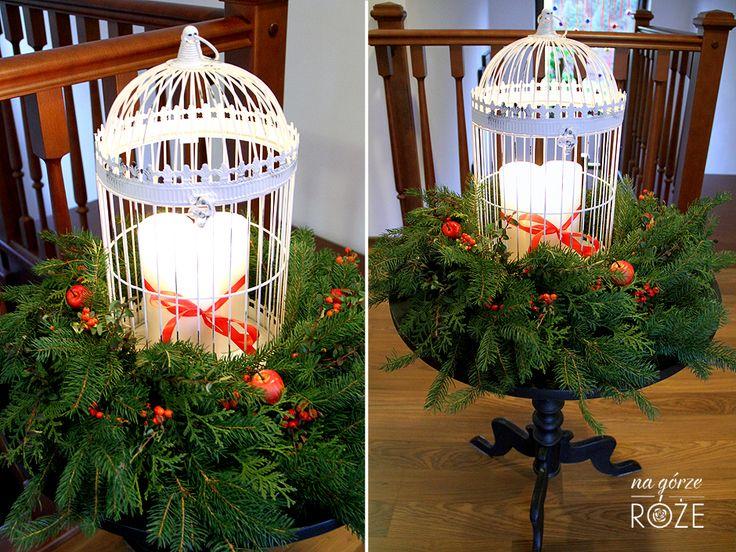 Świąteczny wieniec #zima #swieta #bozenarodzenie #wieniec #klatkadlaptakow #klatka #swiece #christmas #winter #decorations #wreath #christmaswreath