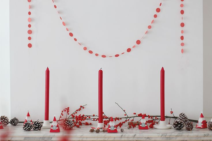 #Christmas #candles #garland | 13zor for Dille & Kamille