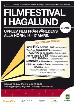 Poster: Film festival in Hagalund, Solna, Sweden.