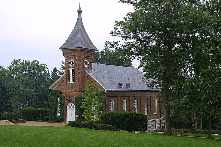Lee Chapel on the campus of Washington and Lee University in Lexington, VA.  General Robert E. Lee is buried inside this chapel.