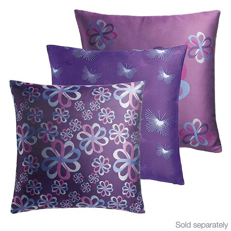 41 cm sq. cover. Zip close. Polyester. Machine wash and dry. Pillow insert not included. Avon will donate 10% of the sale price from domestic violence fundraising products to the Avon Foundation for Women Canada to support Speak Out Against Domestic Violence programs across the country.