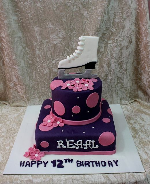 17 Best Ideas About Ice Skating Cake 2017 On Pinterest