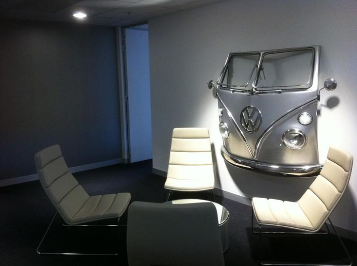 VW Australia Boardroom (*I love the idea of putting the front of a car on the wall_LL)