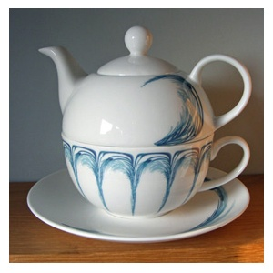 Tea for One in Blue Feather (Bella Home Accessories)