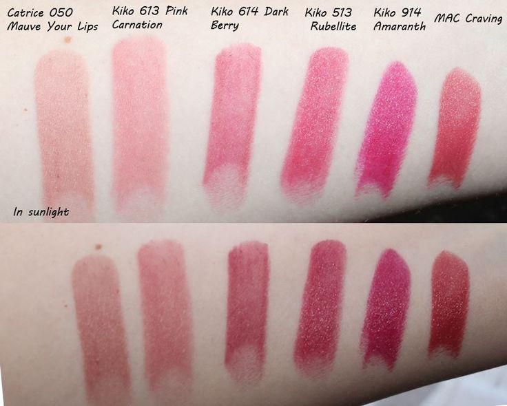 Kiko Swatches Lipstick L-R Catrice Ultimate Stay 050 -3086