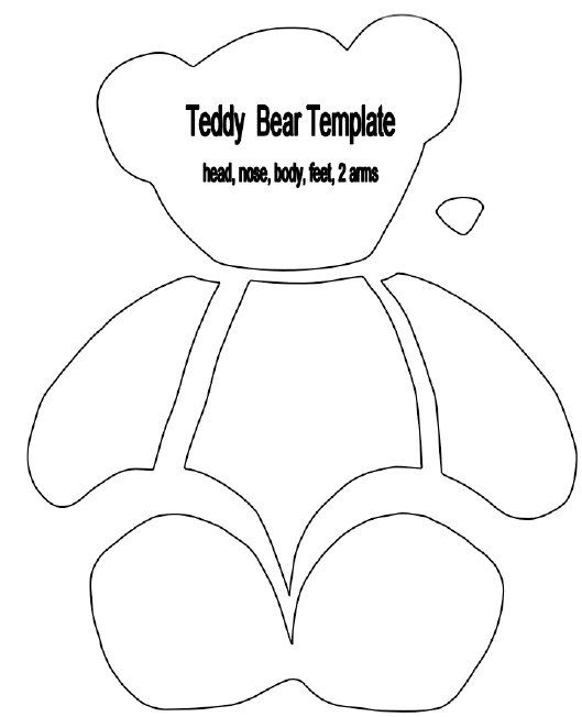 Printable Teddy Bear Sewing Pattern | Teddy Bear Light Switch Cover