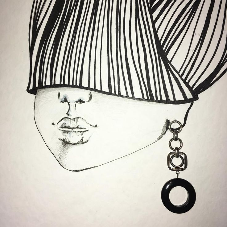 Girl with a silver earring | Sketching