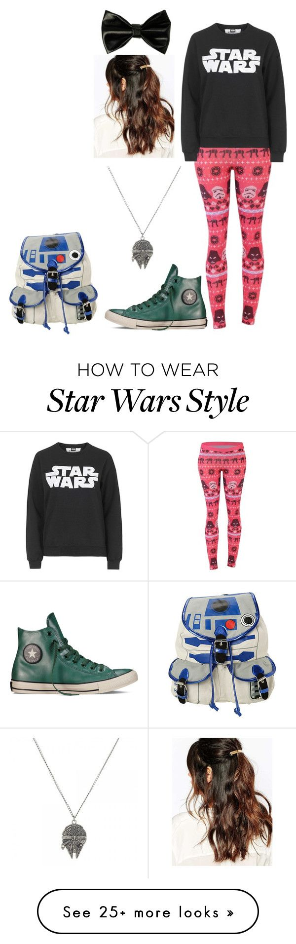"""""""Star Wars Fan"""" by madeinchina03 on Polyvore featuring R2, Tee and Cake, Converse and Suzywan DELUXE"""