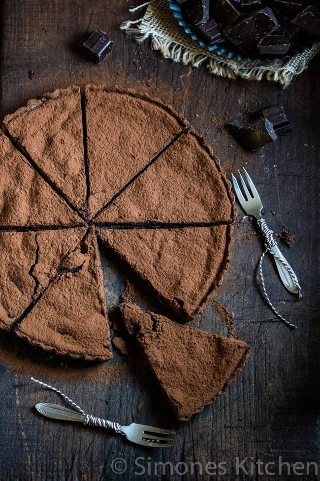 Chocolate Pie... I don't know which I love more, the photo or this recipe! Gorgeous!