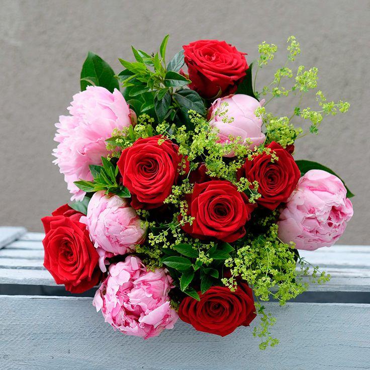 Ramo Passion con Peonías y Rosas | Floristería Bourguignon #peony #bouquet
