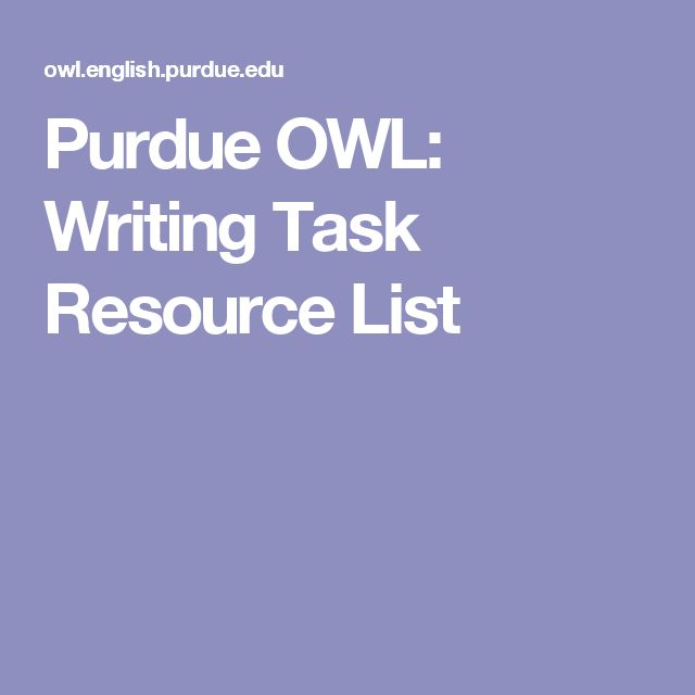 Purdue owl essay writing