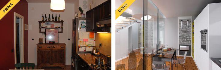 Cucina buia? Con le pareti vetrate non più! Relooking @ Novahouse.it