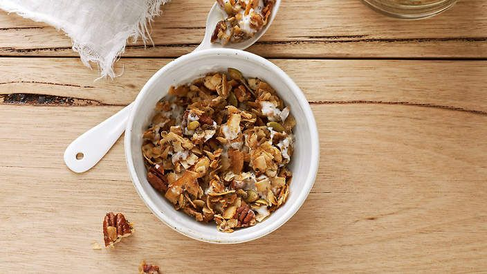 Coco-nutty granola recipe : SBS Food Tweek recipe ... Add seeds cacao nibs cacao powder cinnamon chia seeds