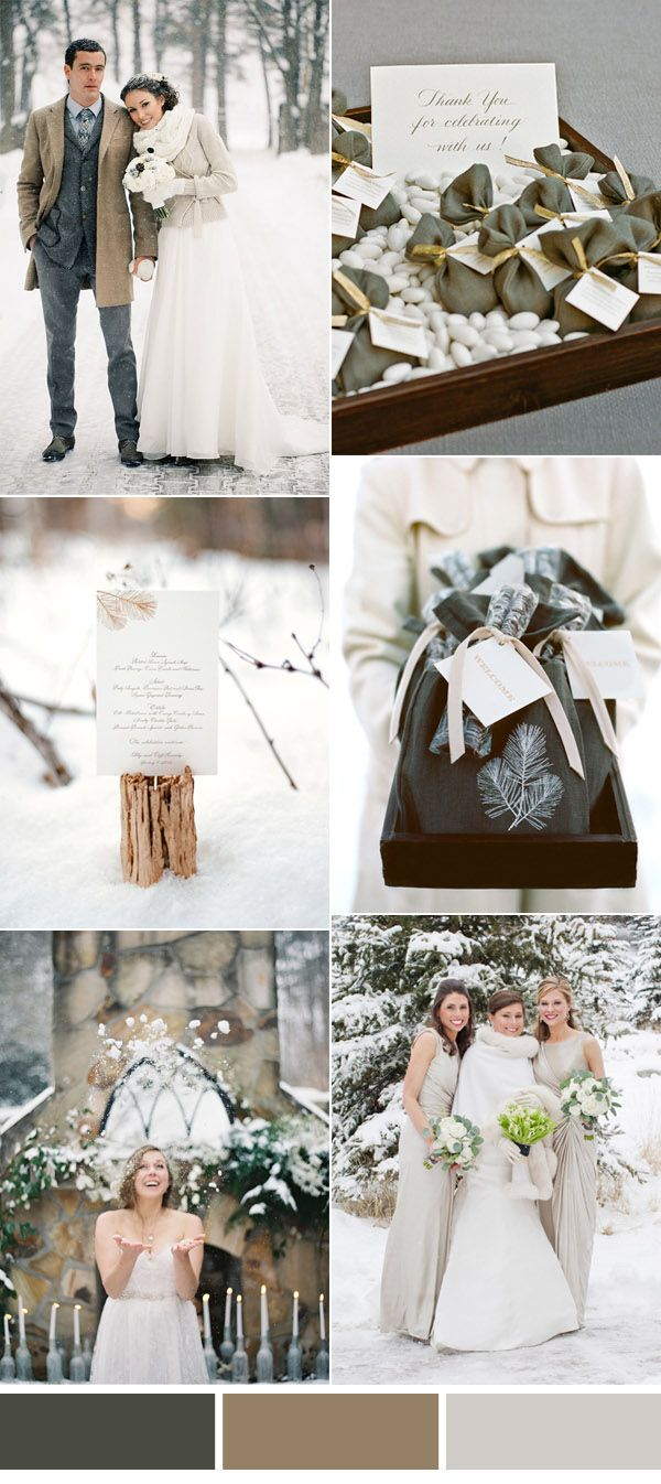 beautiful sage green winter wedding color inspiration 2016