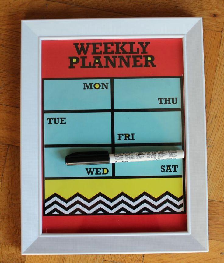 weekly planner play haftalık planlayıcı yaz/sil - Duvar & İllüstrasyon 306730 | zet.com