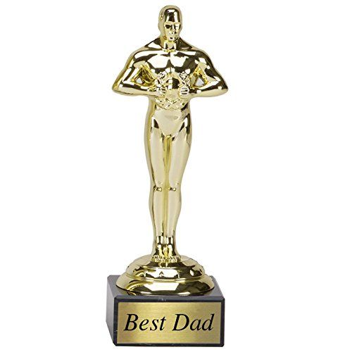 Best-Dad-Trophy-Gift-With-A-Marble-Base-1975cm-775-Fathers-Day-Present-Birthday-Gift