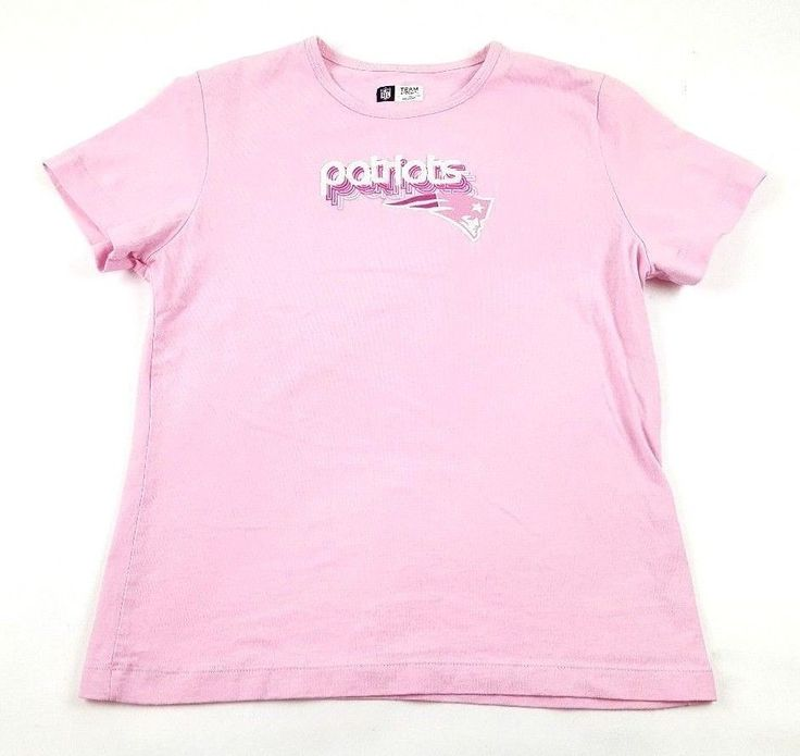 New England Patriots NFL Team Apparel Women's Large Pink T-Shirt  free Shipping #NewEnglandPatriots