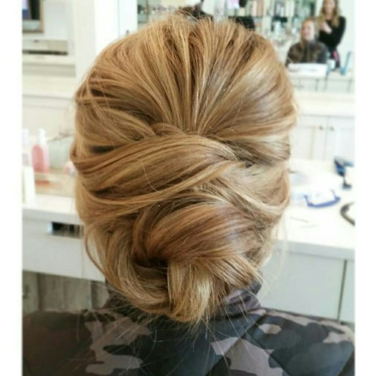 Textured and lovely updo - @sarahtheblowoutbar /instagram