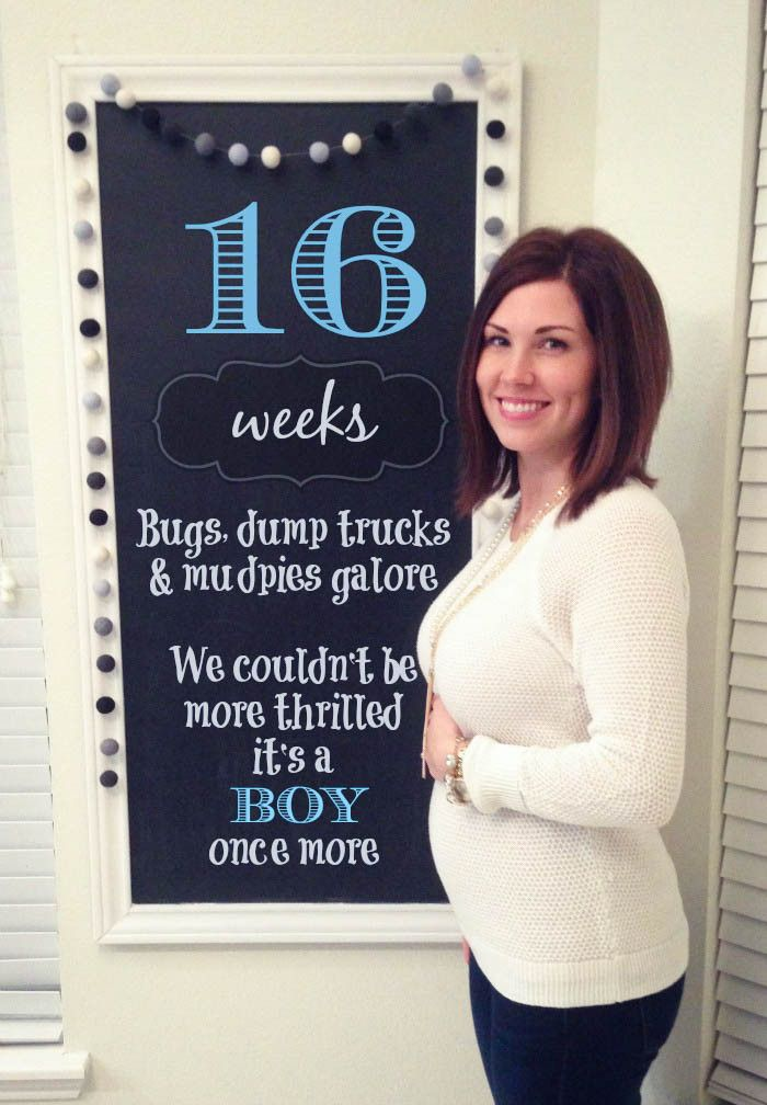 Southern Made Blog : 16 weeks Pregnancy #2 Chalkboard Tracker
