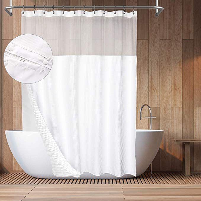 Amazon Com Barossa Design Hotel Style Cotton Shower Curtain With