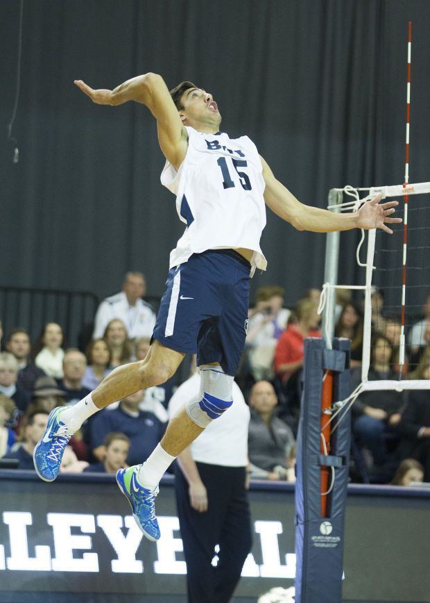 photo of byu mens volleyball team 2014 | Photos: BYU men's volleyball sweeps…