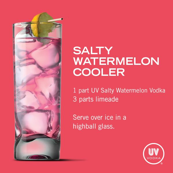 UV Vodka Recipe: Salty Watermelon Cooler