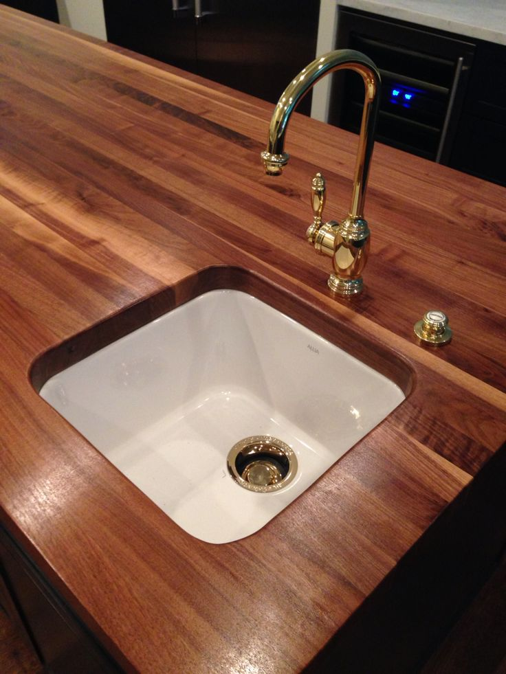 Stained Butcher Block Countertop For Kitchen : Full Kitchen Remodel by designBUILD Walnut Stained Butcher Block Countertop for the Island ...