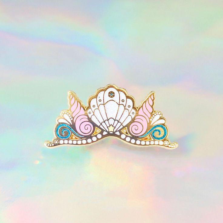 Mermaid Crown Enamel Pin by KrittiyaChok on Etsy