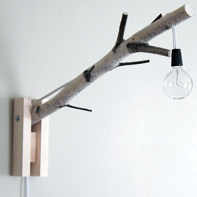 Branch Wall Lamp #DIY