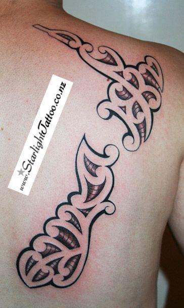 New Zealand map tattoo