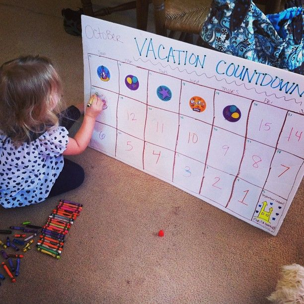Kids Countdown Calendar : Diy vacation countdown calendar going to use for worlds