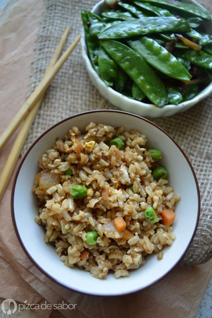 Cómo hacer arroz frito (con arroz integral) - Pizca de Sabor